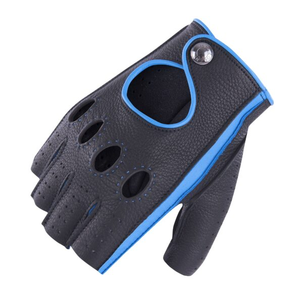 JACKIE - FINGERLESS DRIVING GLOVES BLACK AND BLU