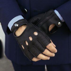 Jackie Fingerless Driving Gloves