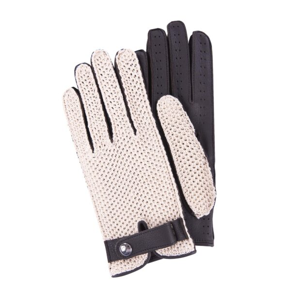 JOEY - DRIVING GLOVES STRINGBACK CROCHET AND DARK BROWN