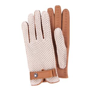 JOEY - DRIVING GLOVES STRINGBACK CROCHET AND LEATHER