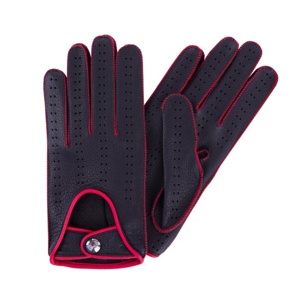 JIM - DRIVING GLOVES BLACK AND RED