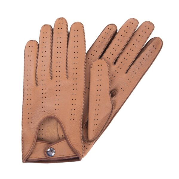 JIM - DRIVING GLOVES CAMEL AND TAN