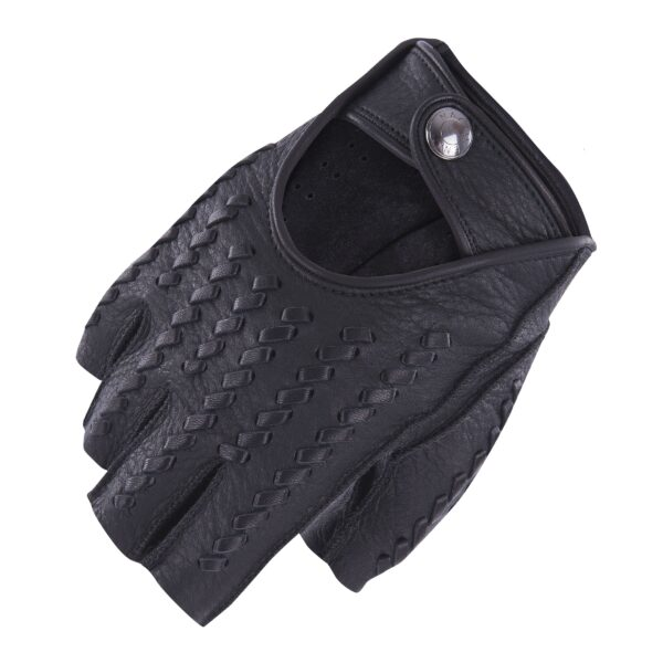 KENNY - FINGERLESS DRIVING GLOVES WOVEN BALCK BLACK